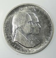 1926 SESQUICENTENNIAL OF AMERICAN IND. SILVER COMMEMORATIVE HALF $ ALMOST UNC