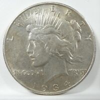 1934-D PEACE DOLLAR EXTRA FINE/ALMOST UNC SILVER DOLLAR
