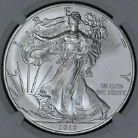 2012 NGC MINT STATE 69 AMERICAN SILVER EAGLE ITEMJ5264