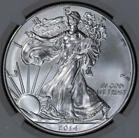 2014 NGC MINT STATE 69 AMERICAN SILVER EAGLE ITEMJ5266