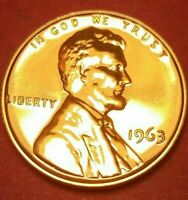PROOF 1963 LINCOLN PENNY - A RED BLAZER   FREE SHIP