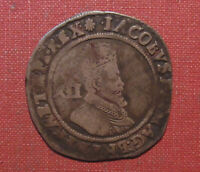 1605 1606  ND  UK SHILLING   KING JAMES I  4TH BUST NICE