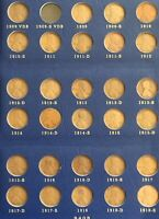 1909 1940 LINCOLN CENT SET MISSING ONLY 1909 S VDB. HAS 1909