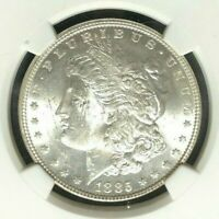 1885 VAM 1A2 NGC MINT STATE 62 MORGAN SILVER DOLLAR-GENE L HENRY LEGACY COLLECTION