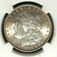 1886 VAM 1A NGC MINT STATE 62 MORGAN SILVER DOLLAR-GENE L HENRY LEGACY COLLECTION