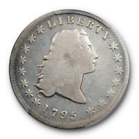 1795 $1 3 LEAVES FLOWING HAIR DOLLAR PCGS G 6 GOOD TO  GOOD EARLY US TYPE