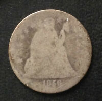 1856-P SEATED LIBERTY DIME SILVER U.S. COIN A4121