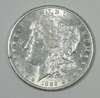 1889-S MORGAN DOLLAR ALMOST UNCIRCULATED SILVER DOLLAR