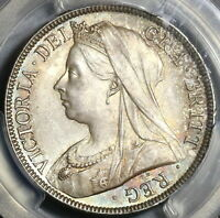 1895 PCGS MS 65 VICTORIA 1/2 CROWN GREAT BRITAIN SILVER COIN  20020501C