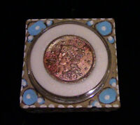 US LARGE CENT 1850 GOLD RUSH BRAIDED IN PRO-CAPSULE ARTIST EJ GOLD TRINKET BOX