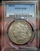 1892-S $1 PCGS EXTRA FINE  40  BETTER DATE MORGAN DOLLAR SHIPS FREE