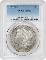 1897-O $1 PCGS AU53 - BETTER DATE FROM NEW ORLEANS - MORGAN SILVER DOLLAR