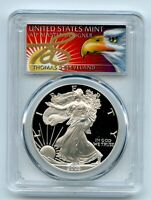 2003 W $1 PROOF AMERICAN SILVER EAGLE 1OZ PCGS PR70DCAM THOMAS CLEVELAND EAGLE