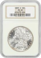 1888-O $1 NGC MINT STATE 65 - MORGAN SILVER DOLLAR