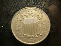 1881 PROOF SHIELD NICKEL FULL DEVICES  DATE  COIN  D2X