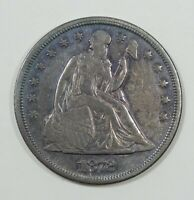 1872 LIBERTY SEATED DOLLAR EXTRA FINE SILVER DOLLAR