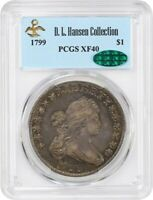 1799 $1 PCGS/CAC EXTRA FINE 40 - GREAT BUST DOLLAR TYPE COIN - BUST SILVER DOLLAR