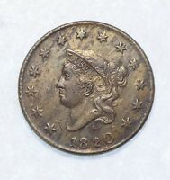 1820 LARGE DATE CORONET HEAD LARGE CENT ALMOST UNCIRCULATED 1C