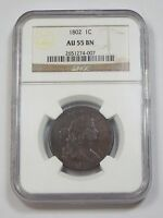 1802 DRAPED BUST LARGE CENT CERTIFIED NGC AU 55 BROWN 1C