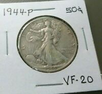 1944-P LIBERTY WALKING HALF DOLLAR  FINE 20
