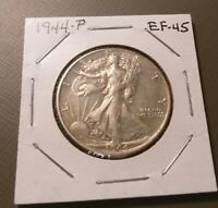 1944-P LIBERTY WALKING HALF DOLLAR EXTRA FINE 45