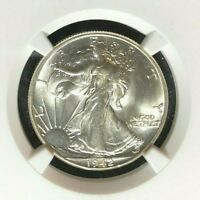 1942 WALKING LIBERTY SILVER HALF DOLLAR  NGC MINT STATE 65  BEAUTIFUL COIN REF54-005