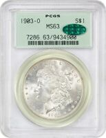 1903-O $1 PCGS/CAC MINT STATE 63 OGH - LOW MINTAGE DATE