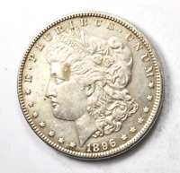 1896 $1 MORGAN SILVER ONE DOLLAR US  PHILADELPHIA AU VAM 5A