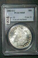 1883-CC MINT STATE 65 MORGAN SILVER DOLLAR SILVER COIN PCGS MINT STATE 65