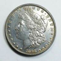 1898 MORGAN SILVER DOLLAR. ALMOST UNC. CLEANED