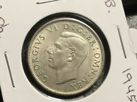 GREAT BRITAIN 1945 2 SHILLING COIN UNCIRCULATED