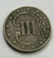 1853 3C III THREE CENT SILVER COIN