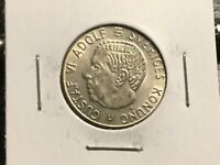 SWEDEN 1968 1 KRONE SILVER COIN  UNCIRCULATED