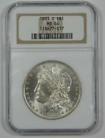1883-O MORGAN DOLLAR CERTIFIED NGC MINT STATE 64 SILVER $