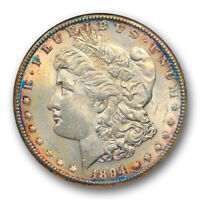 1894 S $1 MORGAN DOLLAR ANACS MINT STATE 62 UNCIRCULATED LOOKS BETTER OLD HOLDER