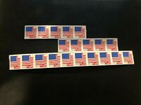 20 X $0.55 NEW UNUSED USPS US FLAG FOREVER POSTAGE STAMPS  $11 VALUE