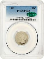 1803 10C PCGS/CAC FAIR-02 - AFFORDABLE  DATE - BUST DIME