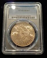BETTER DATE 1890-S MORGAN SILVER DOLLAR PCGS MINT STATE 64  $1 ATTRACTIVE TONING - C135