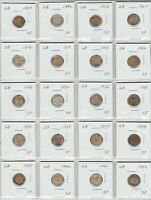 COLLECTION 20 UK SILVER THREE PENCE 1889 TO 1942