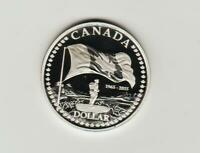 2015 CANADA PROOF SILVER DOLLAR  50TH ANNIVERSARY OF THE FLA