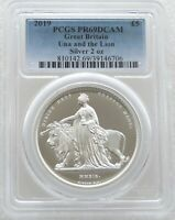 2019 GREAT ENGRAVERS UNA AND THE LION 5 SILVER PROOF 2OZ COIN PCGS PR69 DCAM