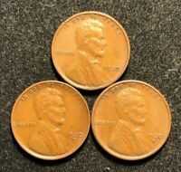 1930 PDS LINCOLN WHEAT CENTS EXTRA FINE -AU  1930-P 1930-D 1930-S  SHIPS FREE