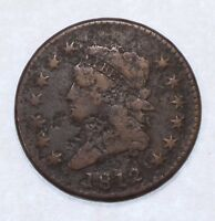 BARGAIN 1812 SMALL DATE CLASSIC HEAD LARGE CENT  FINE 1C