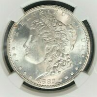 1882-S NGC MINT STATE 63 MORGAN SILVER DOLLAR GENE L. HENRY GREAT NORTHWEST 27-048