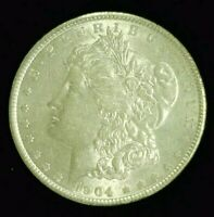 1904 MORGAN SILVER DOLLAR AU/BU SLIDER    9403