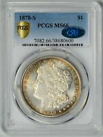 1878-S  PCGS  MINT STATE 66 CAC    BETTER DATE MORGAN DOLLAR    38680600