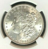 1886 VAM 1A1 NGC MINT STATE 63 MORGAN SILVER DOLLAR-GENE L. HENRY LEGACY COLLECTION 082