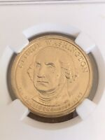 2007 GEORGE WASHINGTON DOLLAR ERROR MISSING EDGE LETTERS MINT STATE 65 BY NGC.