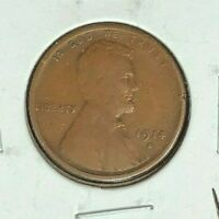 1914-D LINCOLN WHEAT CENT VF TINY RIM TICK  KEY DATE COIN