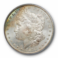 1878 S $1 MORGAN DOLLAR PCGS MINT STATE 64 UNCIRCULATED LIGHTLY TONED ORIGINAL